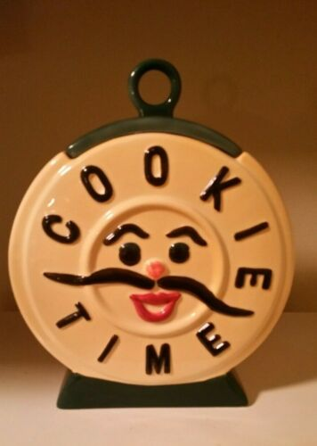 "Vintage Style Jonal Cookie Jar Classics ""Cookie Time""  Cookie Jar VGC READ DESCR"