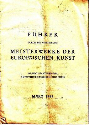 Fuhrer Meisterwerke Der Europaischen Kunst Marz 1949 Germany
