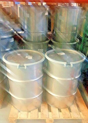 STAINLESS STEEL Drum Barrels Open Top with Bolt Ring (Various sizes and quality)