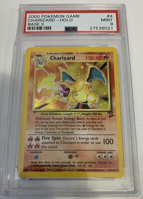 PSA 9 MINT CHARIZARD HOLO Pokemon Base Set 2 4/130