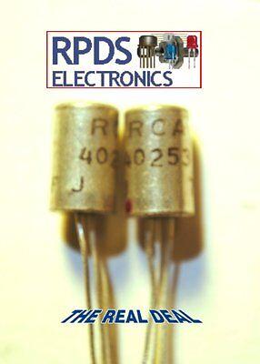 1 Ea Rca 40253 Germanium Pnp Transistor To1 Case Nos Nib