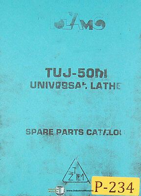 Toolmex Tuj50m Polamco Universal Lathe Spare Parts Manual