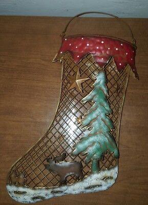 Christmas Stockings Sock metal Mesh Gift Bag holiday Hanging Ornament decor