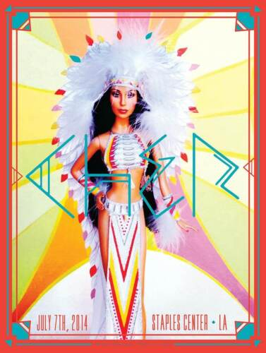 CHER LOS ANGELES 2014 Concert poster KII ARENS Mint