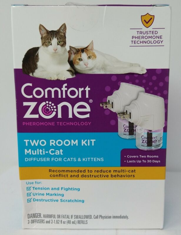 Comfort Zone MultiCat Two Room Diffuser Kit for Cats Kittens, #3520