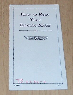 """RARE 1920 G.E. Company~""""How to Read Your ELECTRIC METER""""~Illustrated~"""