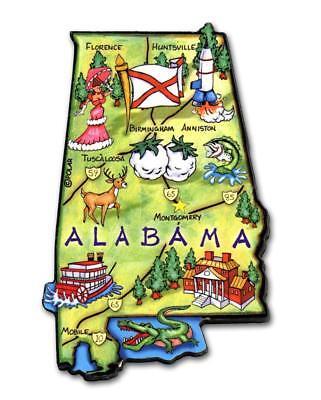 Alabama the Heart of Dixie Artwood Jumbo Fridge Magnet Heart Fridge Magnet