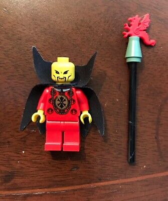 RARE LEGO Emperor Chang Wu Orient Expedition 7419 Adventurers MiniFigure w/Staff