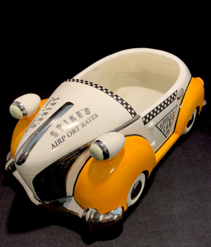 Henry Cavanagh Spike's Cab Co. Yellow Checkered Taxi Cookie Jar Unique Produx