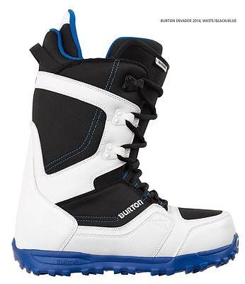 BURTON INVADER white/black/blue men's boots scarponi da snowboard uomo