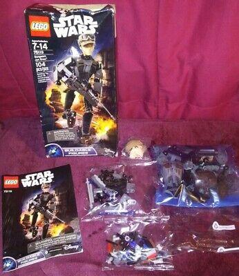 2016 LEGO STAR WARS SERGEANT JYN ERSO~104PC~NewParts/Damaged Box BuildableFigure
