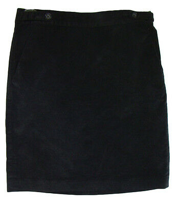 BANANA REPUBLIC Size 2 TALL Gray Corduroy Skirt NWT