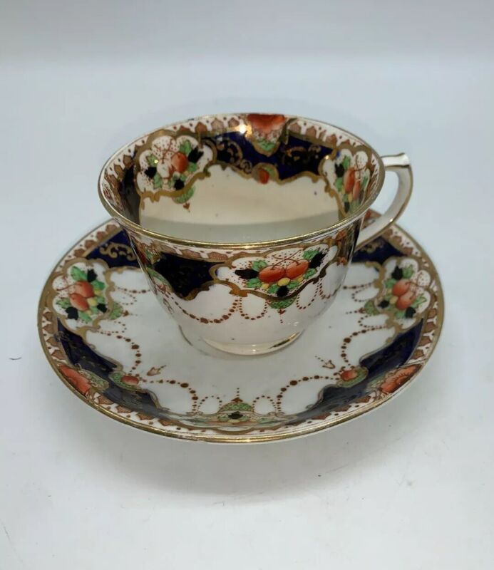 Vintage Tea Cup and Saucer Set by Royal Chelsea. Made in England