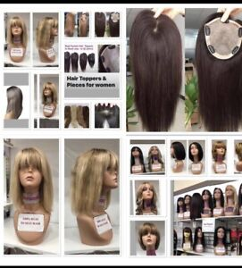 Wigs & Hair Toppers   100% Real Hair  Big Selection: