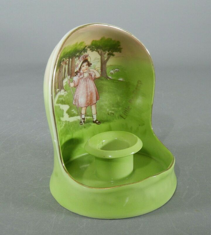 Antique Royal Bayreuth Little Bo Peep HOODED CHAMBERSTICK