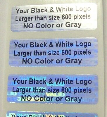 500 Custom Print Hologram Security Warranty Void Svag Label Sticker Seal .5x1.5