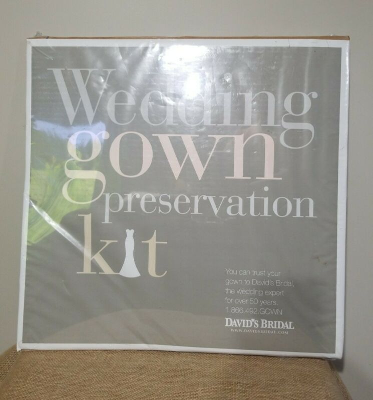 DAVIDS BRIDAL WEDDING GOWN PRESERVATION KIT DRESS STORAGE BOX RETAIL $189