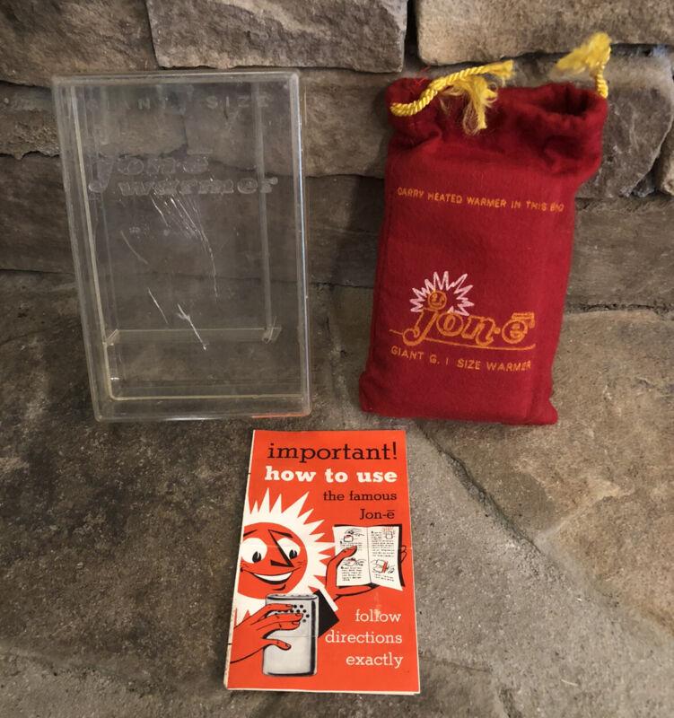 Aladdin Jon-e Warmer Giant GI Size In Original Red Bag & Clear Box & Pamphlet