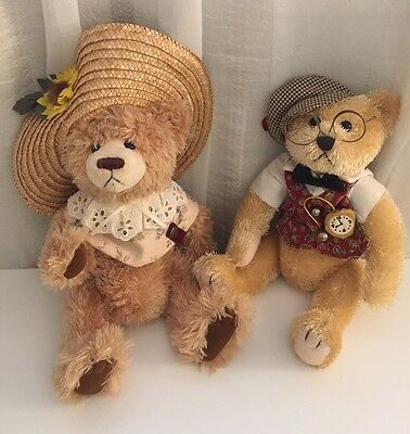 Brass Button Bear Bears. Legendary Collection. 2 Bears: Cathy And Bentley.