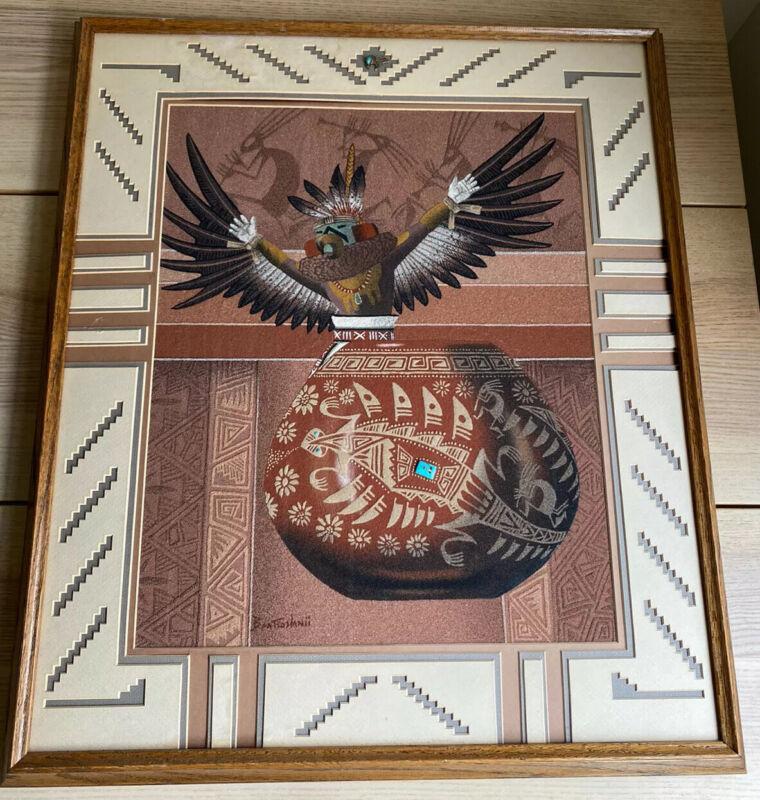 EUGENE BAATSOSLANII JOE ORIGINAL NAVAJO SAND PAINTING ART