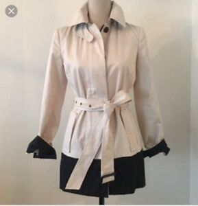 Banana republic colour block trench coat size XS