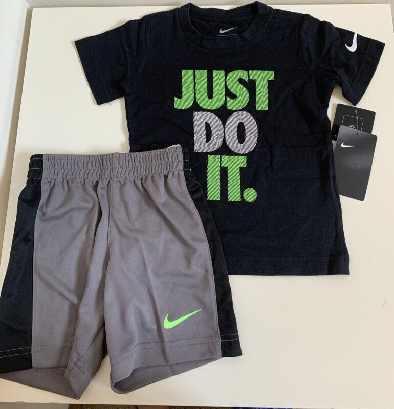 NWT Nike Little Boys 2piece Short Set Gunsmoke Size 7