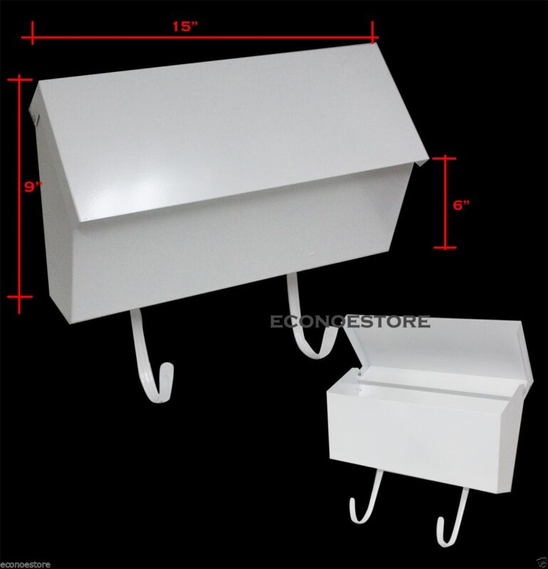 "New 15""x9""x6"" Wall Mount White Mail Box #CHIMB101"