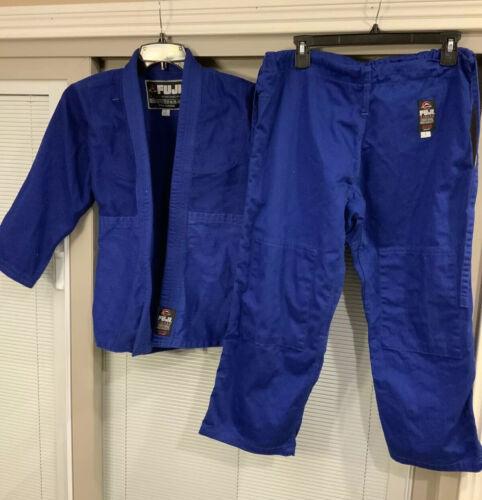 Fuji Gi Kimono & Pants Size 1 Blue BJJ JJ Brazilian Jiu Jits