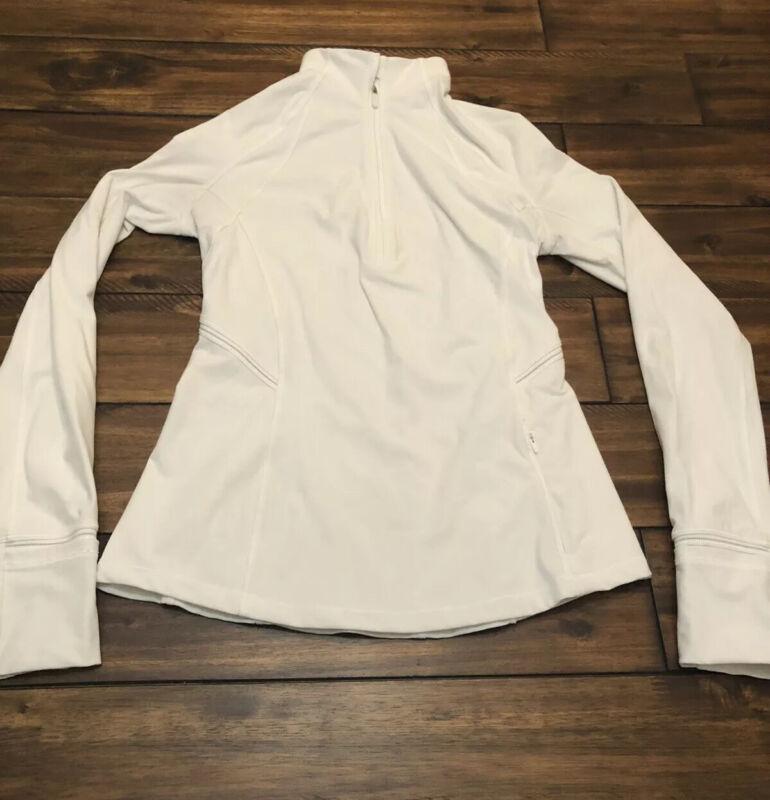 Lululemon Womens Daily Practice Jacket Not Hooded White Size 4 EUC