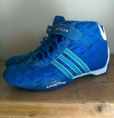 Adidas - Monaco GP Racing Boots Trainers Blue - Good Year - UK 10 - Retro