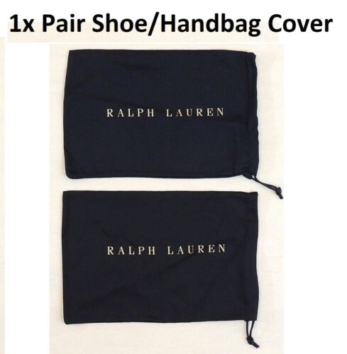 Pair Ralph Lauren Drawstring Shoes Cover Protective Dust Garment Bag Made ITALY