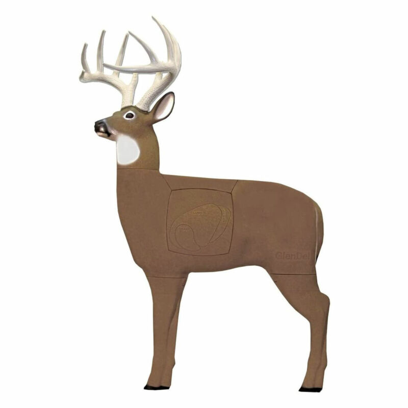 GlenDel 3D Archery Lifelike Pre Rut Buck Target with Replaceable Vitals Insert