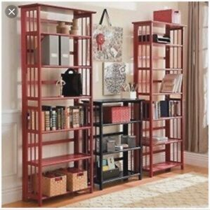 !!! 3 tier Stackable and folding Shelving / bookcases units !!!