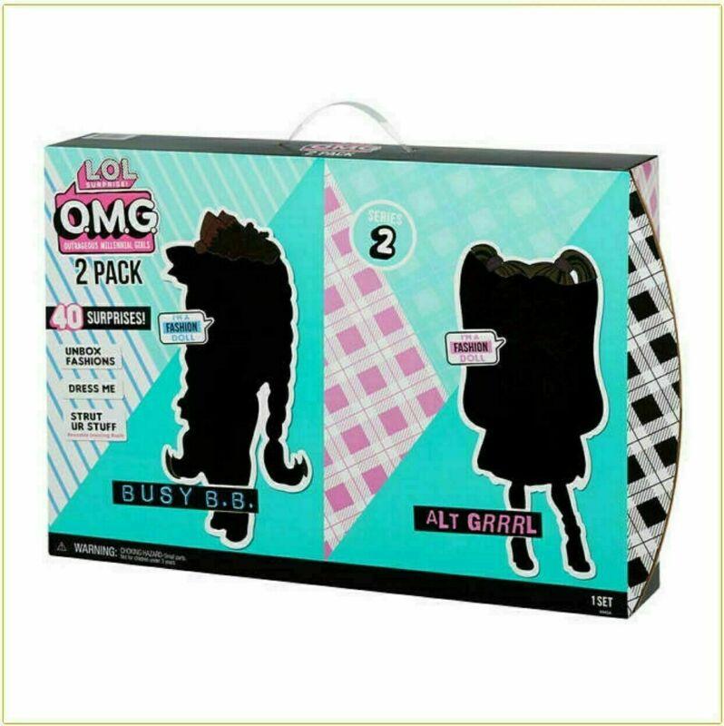 LOL Surprise OMG Dolls 2 pack - Alt Grrrl & Busy B.B. w/40+ Surprises