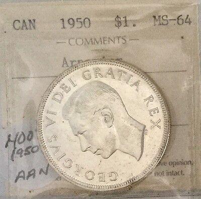 1950   SILVER DOLLAR ICCS  MS64  ARNPRIOR NICE  VARIETY