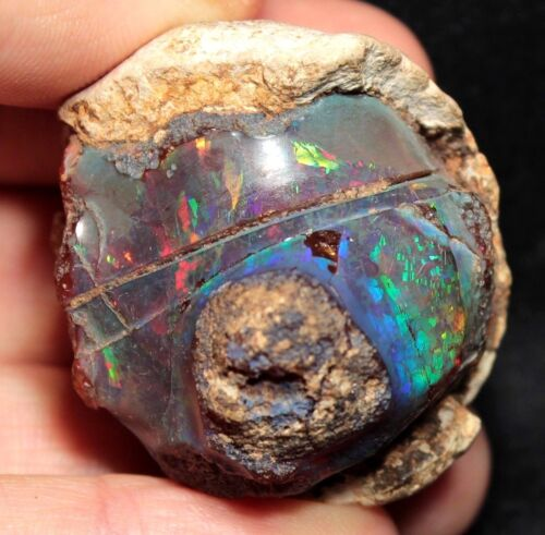 Insanely Vibrant Precious Opal from Welo Ethiopia - 190 ct digit pattern!