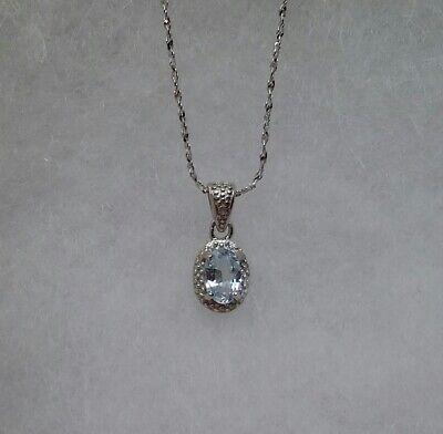 Youthful 0.5 carat genuine baby swiss blue topaz pendant  (Baby Blue Topaz Pendant)