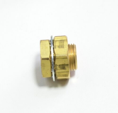 """1/4"""" NPT x 31/32"""" Bulkhead Fitting Terminal Bolt Brass Female Short Air Fasparts"""