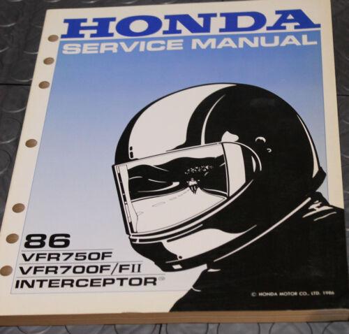 NOS OEM Honda Service Shop Manual NEW 86 VFR750F VFR750F/FII INTERCEPTOR