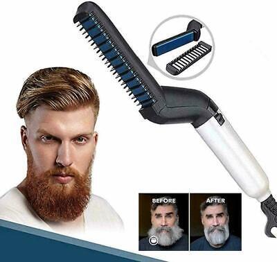 Piastra pettine Uomo barba Capelli styling lisciante elettrica spazzola hair