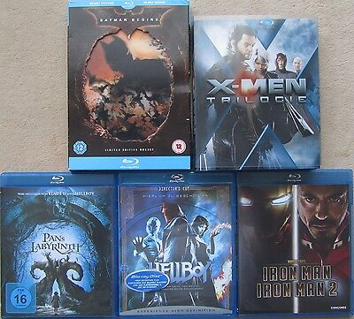 Superhelden & Co. - Batman,Hellboy Iron Man 1+2, X-Man Hologramm Blu-ray (Superhelden Boy)