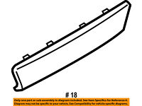 FORD OEM 13-16 Escape Exterior-Rear-Side Molding Left CJ5Z7825557AA
