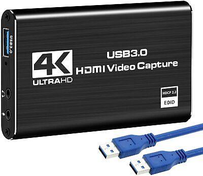 DIGITNOW 4K Audio Video Capture Card, USB 3.0 HDMI Video Capture Device Full HD