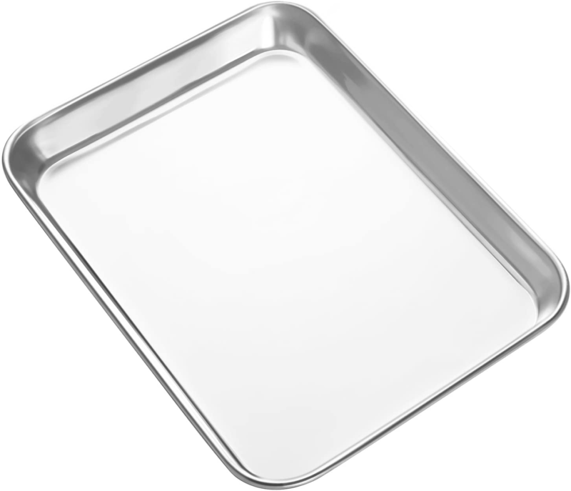 Mini Stainless Steel Baking Sheets Cookie Toaster Oven Tray
