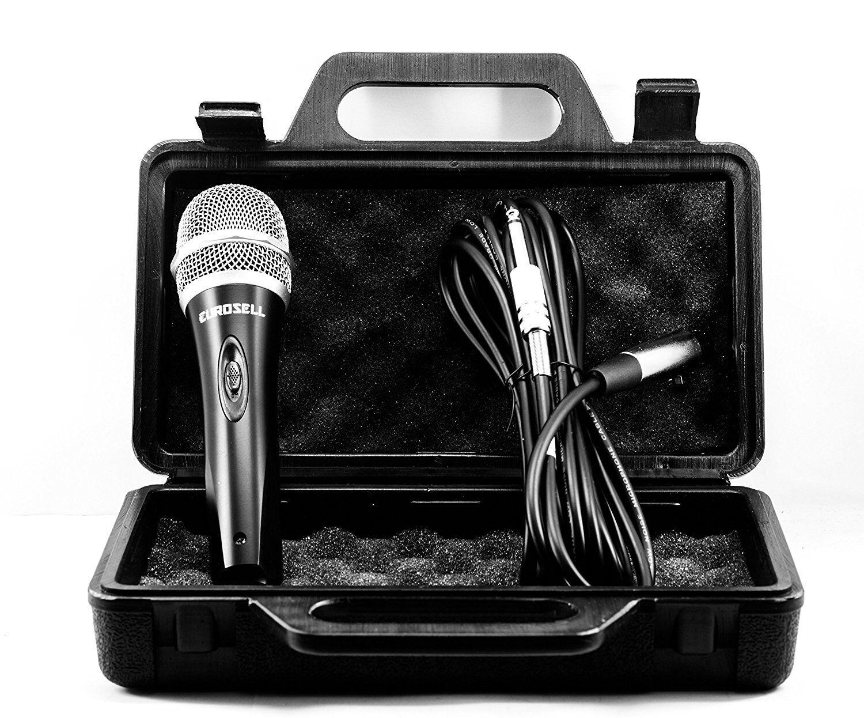 Profi Dynamisches Mikrofon Microfon + Koffer Case + 5m XLR 6,35mm Kabel Gesang