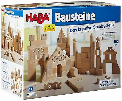 HABA Basic Building Blocks 102 Piece Extra Large Wooden Starter Set