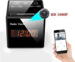 Smart Camera - Alarm Clock FM Radio - 1080P Nanny Cams Wireless with Ph