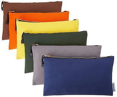 Canvas Tool Tote Bags Heavy Duty Multi purpose Pouch Storage Organizer Zipper