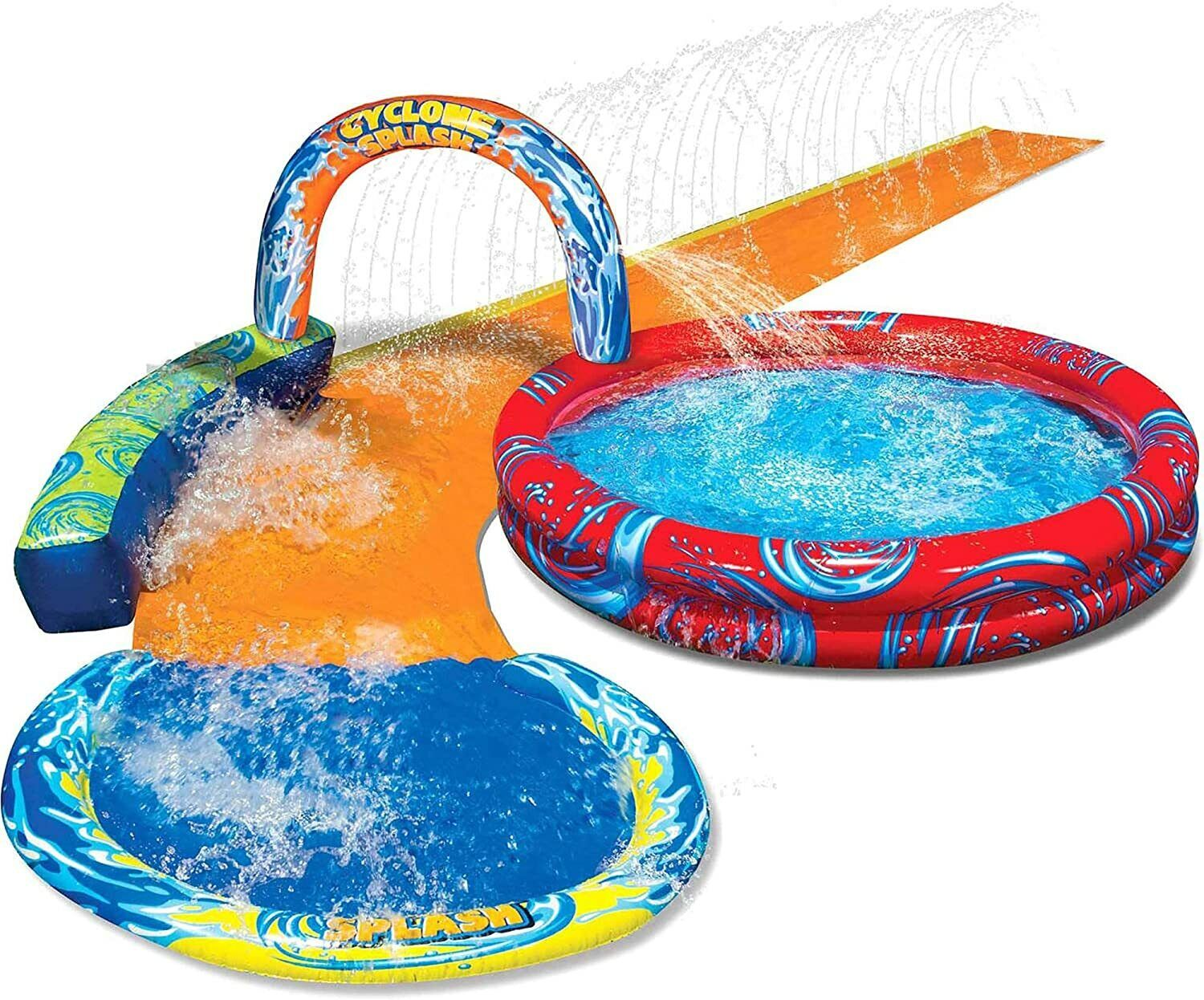 Banzai Cyclone Splash Pool and Cuved Water Slide Outdoor Wat