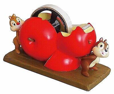 Disney Chip Dale Desk Top Polyresin Tape Dispenser Cutter Room Decor Apple Red